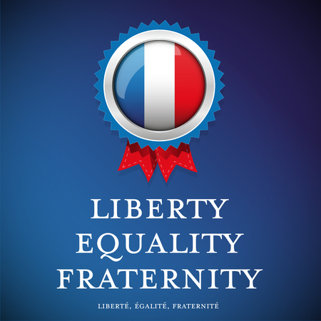 fraternity: France glag - Liberty, equality, fraternity