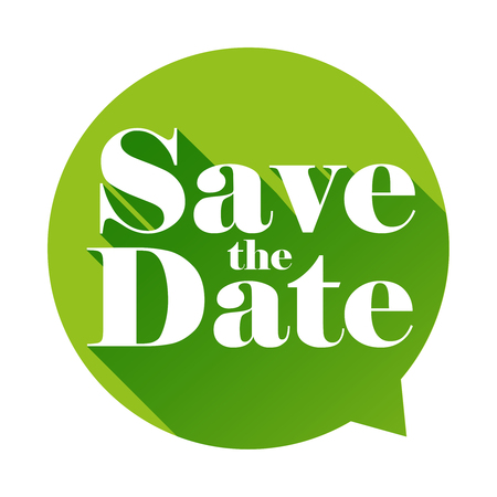 Save the Date sign speech bubble