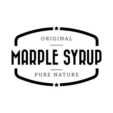 Marple Syrup vintage sign vector Illustration