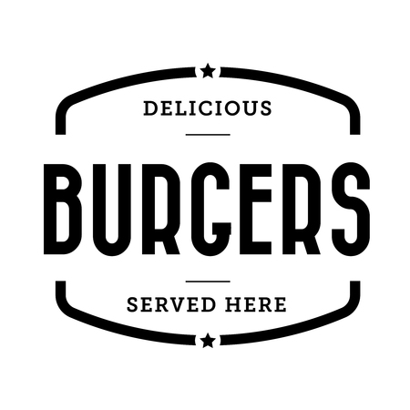 Burger vintage stamp retro vector