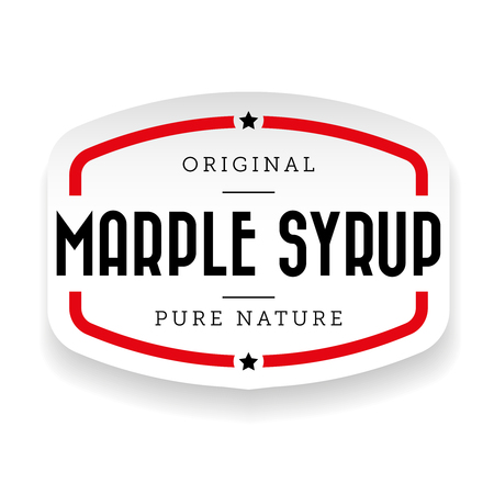 Marple Syrup vintage sign sticker