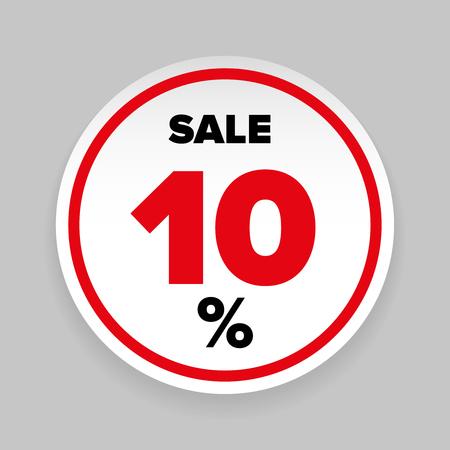 Sale Sticker Ten percent vector