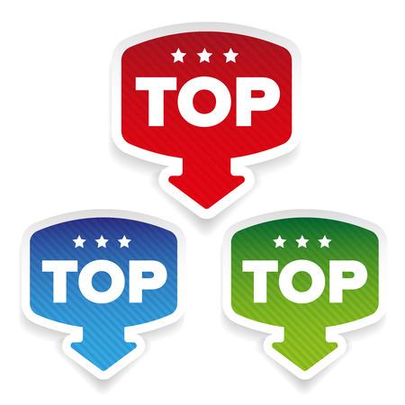 Top label vector set avec flèche Banque d'images - 81180440
