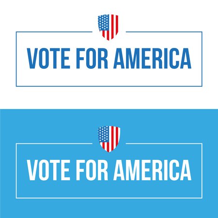 candidates: Vote for America lettering vector