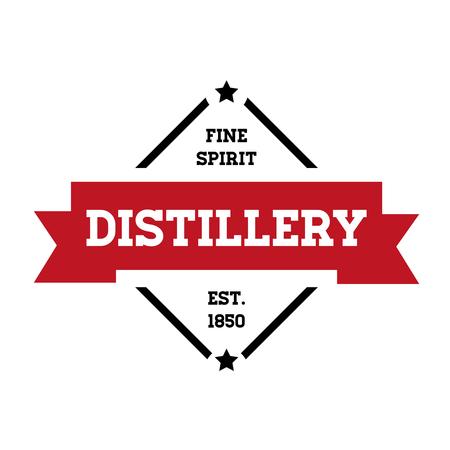 distillery: Distillery vintage stamp sticker Illustration