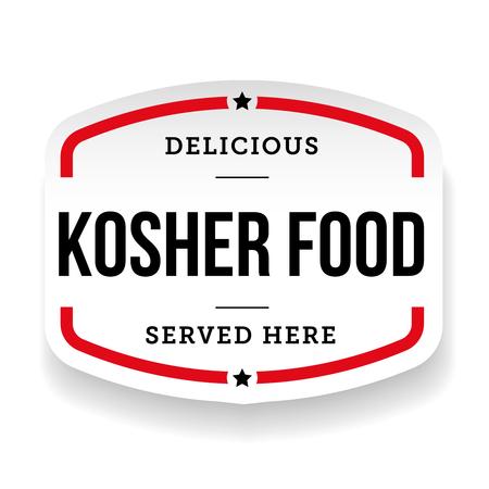 Kosher Food vintage label