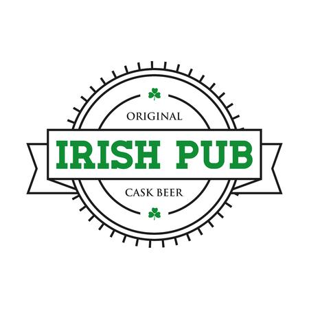 Irish pub vintage stamp vector