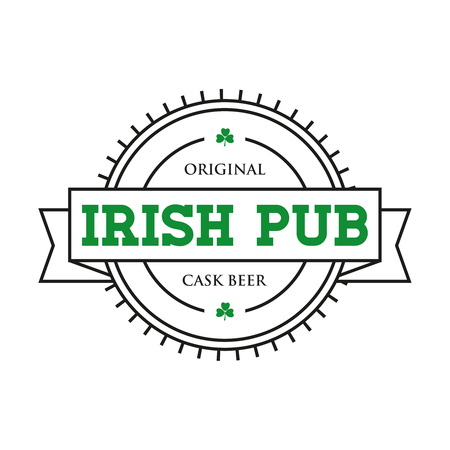 Irish pub vintage stamp vector