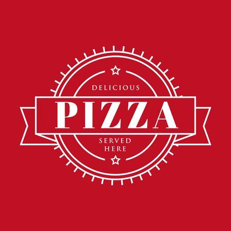 Pizza vintage sign stamp Illustration