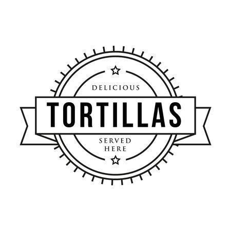 Toritillas vintage stamp sign vector 向量圖像