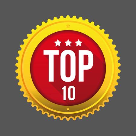 Top Dix Bouton D & # 39 ; Or Vecteur Clip Art Libres De Droits , Vecteurs Et Illustration. Image 84625131.