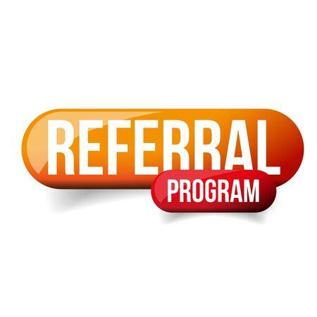 Referral Program orange vector