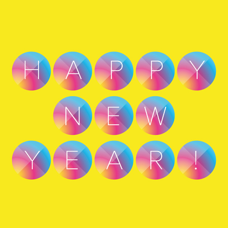 new years: Happy New year colorful vector