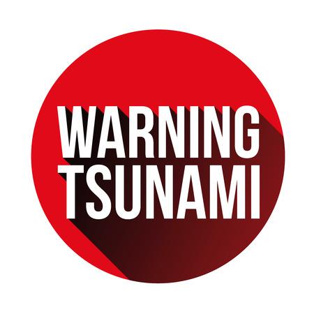 Warning tsunami sign red vector.