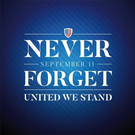 9 월 11 일 서명 잊어 버리지 마라. 일러스트