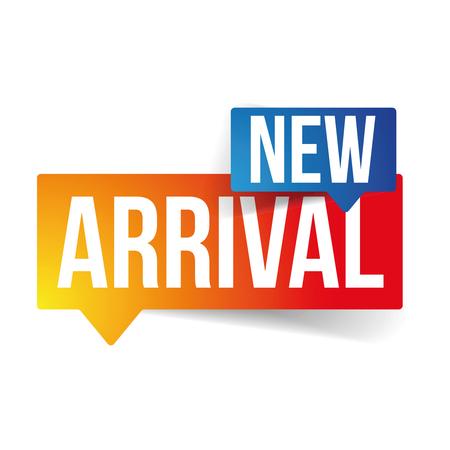 New Arrival sign speech bubble Illustration