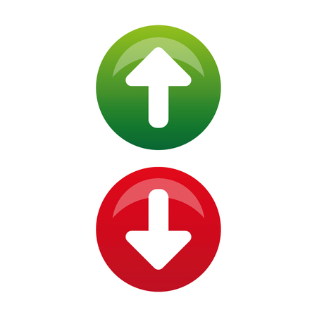 Up Down arrow button vector