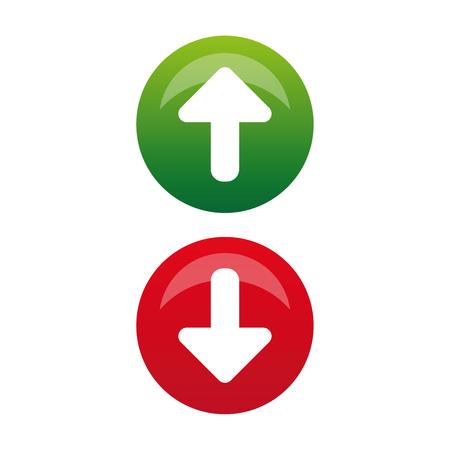 Vecteur de bouton flèche haut bas Vecteurs