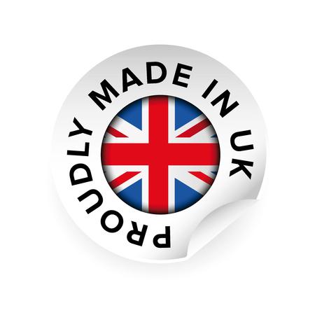 Made in UK label illustration.