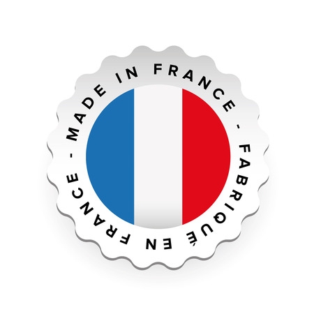 Made in France - French language Fabrique en France label