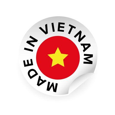 Made in Vietnam sticker tag vector
