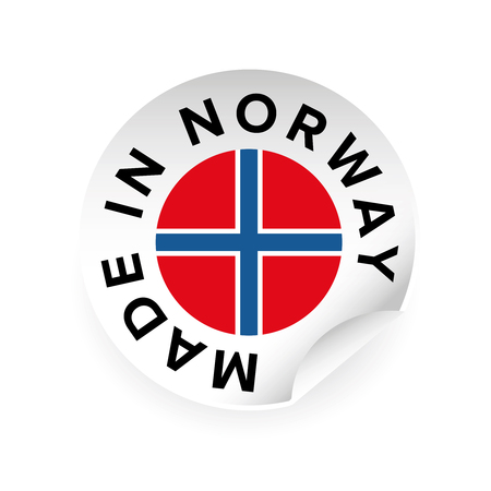 Made in Norway sticker tag vector