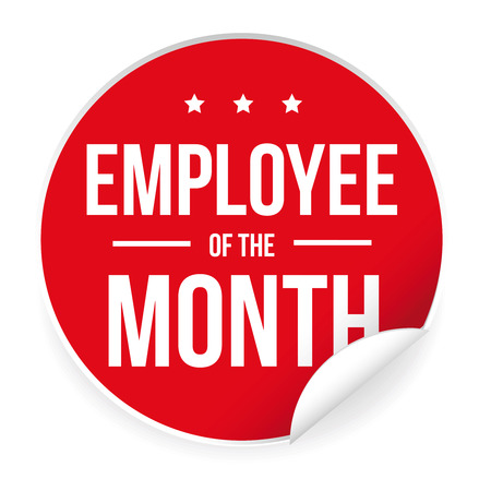 Employee of the Month label sticker 写真素材 - 95041675