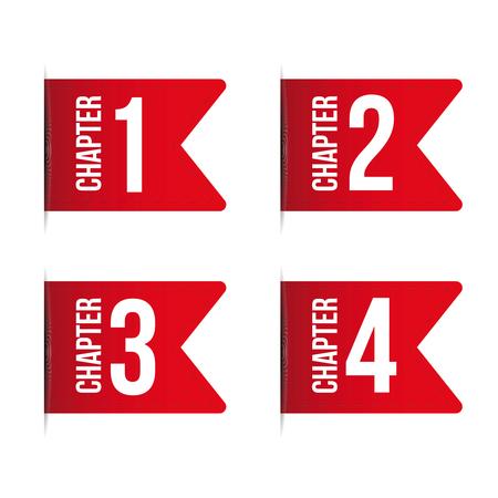 Chapter bookmark icon set