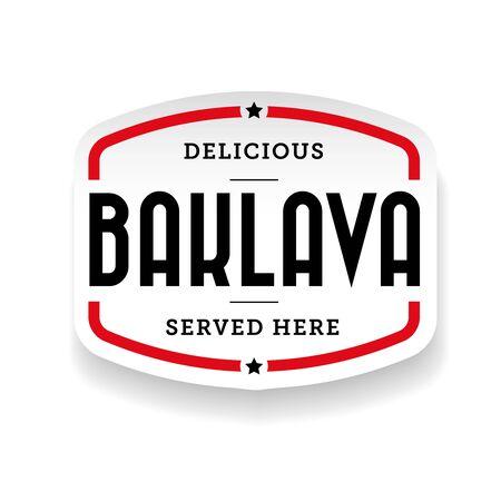 Baklava middle eastern cuisine