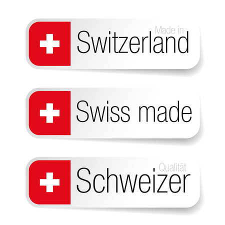 Made in Switzerland - Swiss made label 矢量图像