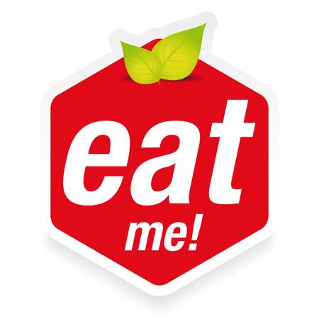 Eat me label sign Vector Illustration