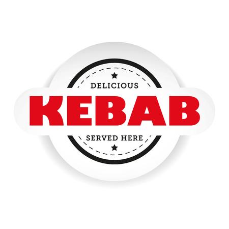 Kebab vintage stamp sign vector