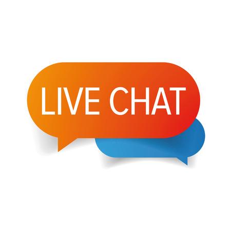 Live chat icon speech bubble 向量圖像