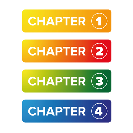 Chapter bookmark button set