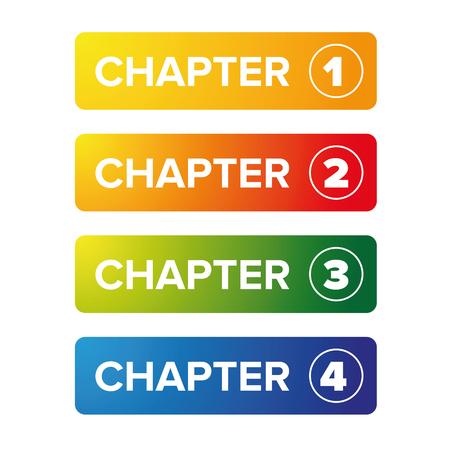 Ensemble de boutons de signet de chapitre