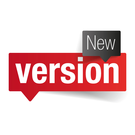 New Version label tag vector Vectores