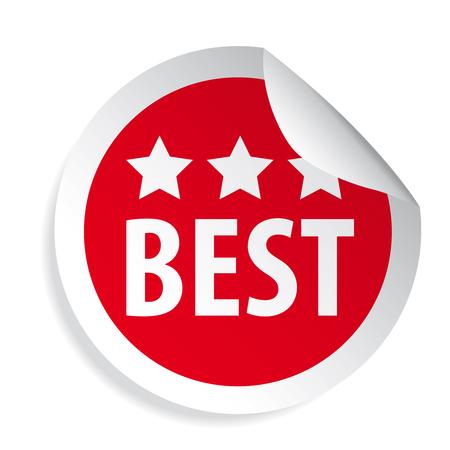 Best label round sticker vector