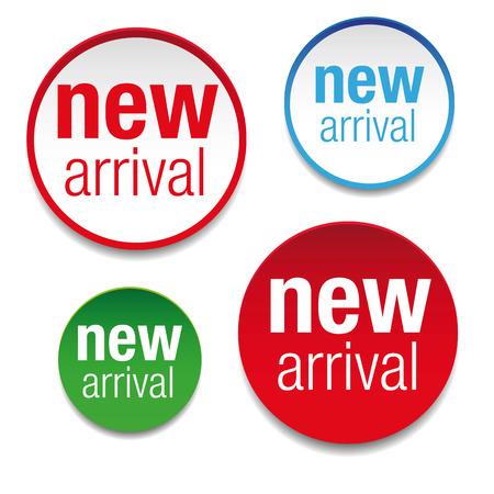 New Arrival label tag set Vektorgrafik