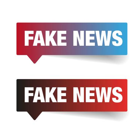Fake News sign label tag vector