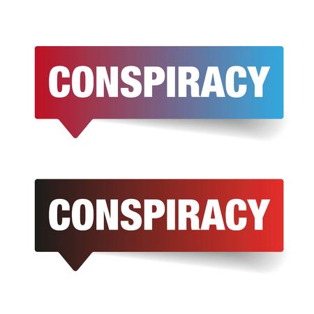 Conspiracy sign speech bubble vector