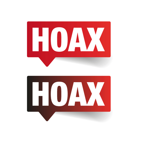 Hoax sign label tag vector Ilustrace
