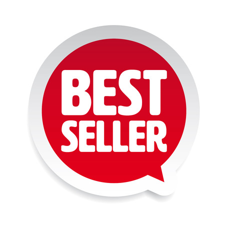 Best Seller label tag speech bubble