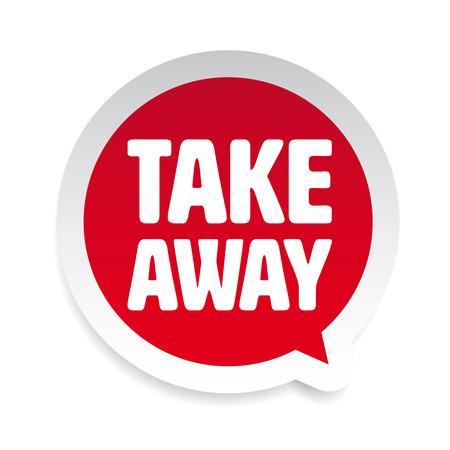 Take Away label tag speech bubble