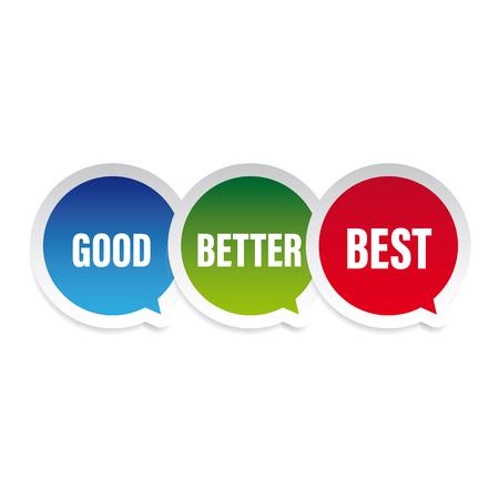 Guter besser bester Sprechblasenvektor