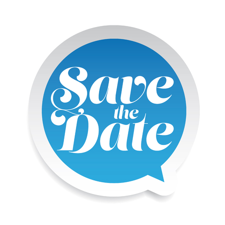 Save the date label bubble Stock Illustratie