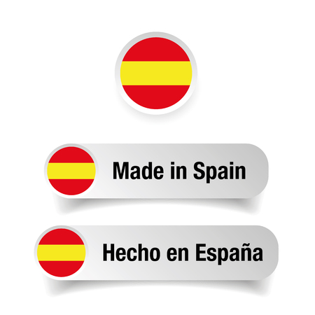 Made in Spain label set