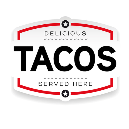 Tacos vintage label sign