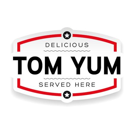 Tom Yum label vintage sign Illustration