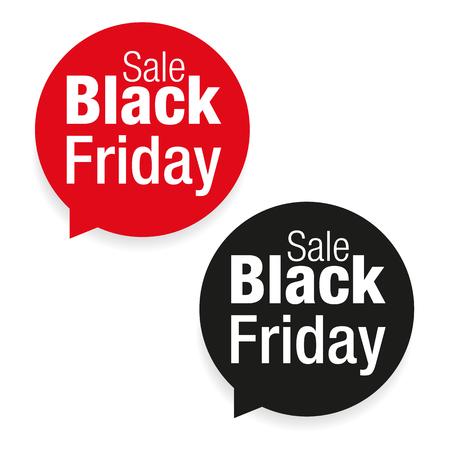 Black Friday Sale label vector Stock Illustratie