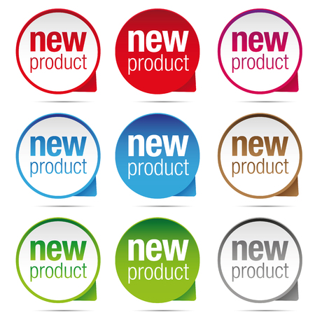 New Product label badge set vector